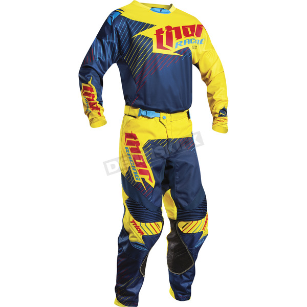 Thor Yellow/Navy Core Hux LE Jersey - 2910-3808
