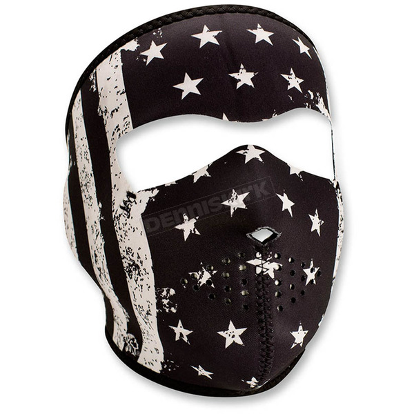 Zan Headgear Black/White Neoprene Vintage Flag Full Face Mask - WNFM091