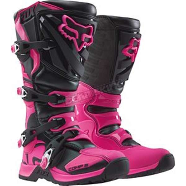 Fox Youth Black/Pink Comp 5 Boots - 16449-285-1