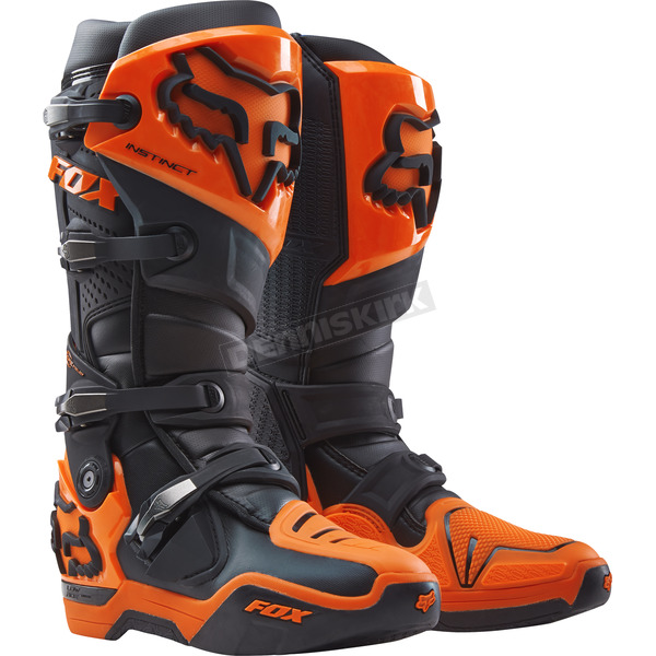 Fox Black/Orange Instinct Boots - 12252-016-13