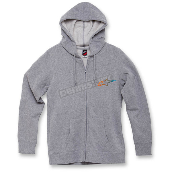 Alpinestars Women's Heather Gray Ageless Gradient Zip Hoody - 1W3552069198M