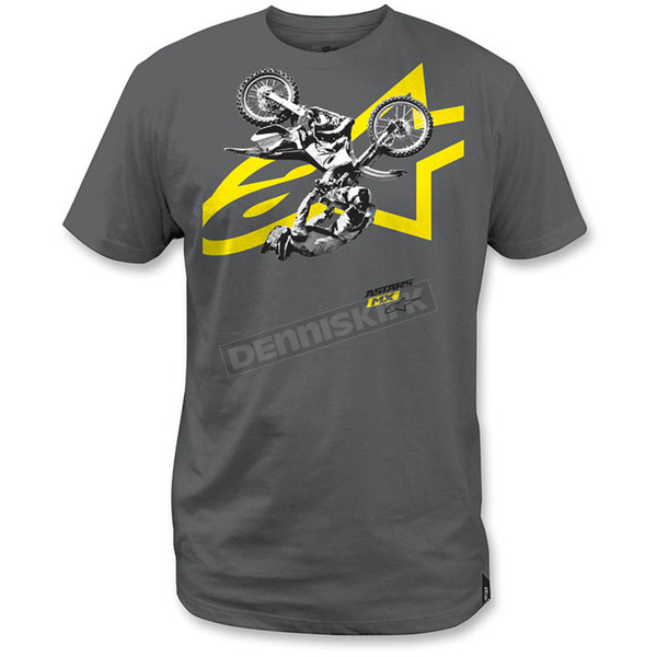 Alpinestars Charcoal Moto Photo T-Shirt - 1M3572053182X