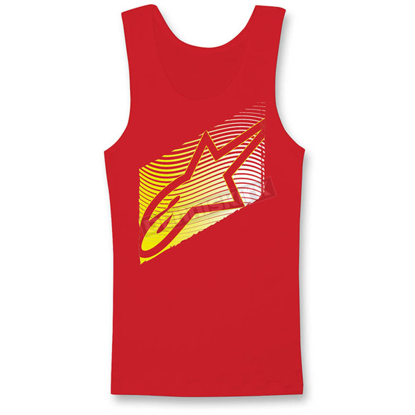 Alpinestars Women's Red Rizon Tank - 1W356306030S