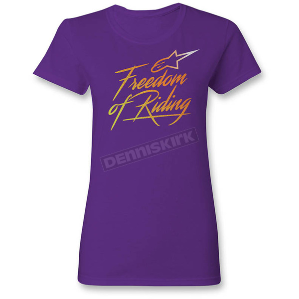 Alpinestars Women's Purple Free T-Shirt - 1W3572058039M