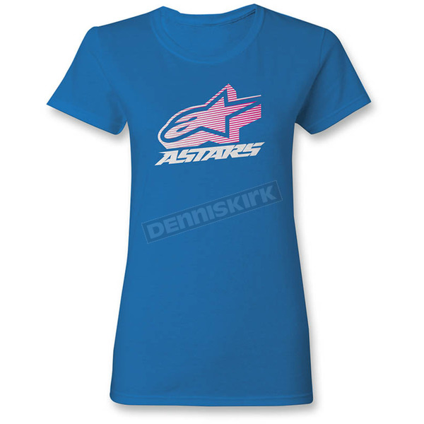 Alpinestars Women's Turquoise Crown T-Shirt - 1W357205776XL