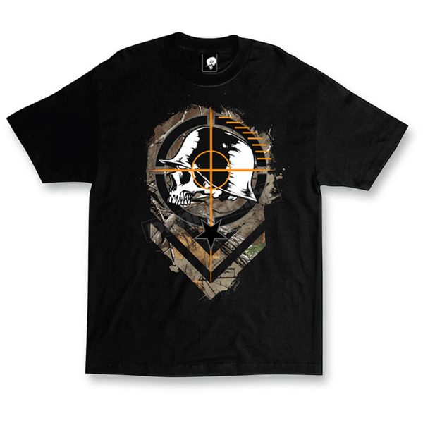Metal Mulisha Mens Black Sight T-Shirt  - M455S18411BLKM