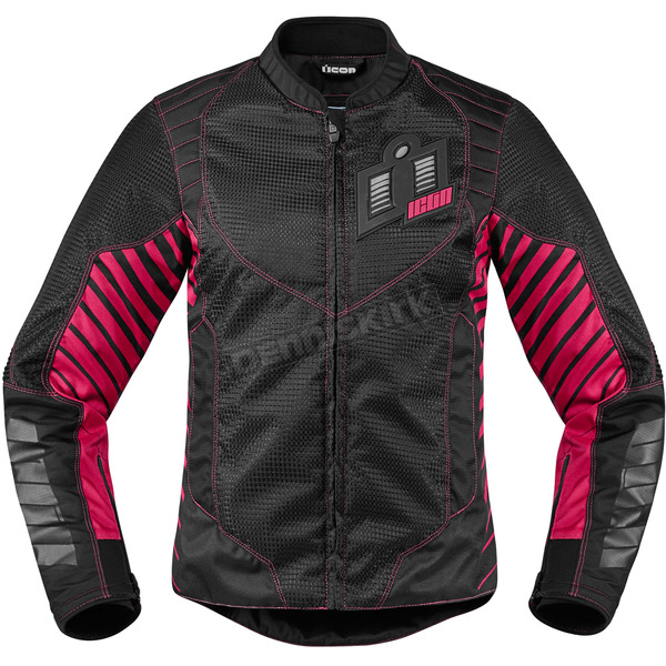 Icon Women's Black/Pink Wireform Jacket - 2822-0828