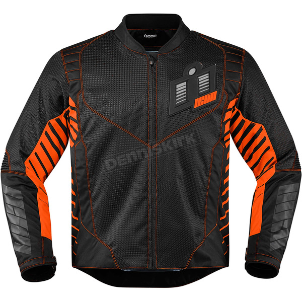 Icon Black/Orange Wireform Jacket - 2820-3600