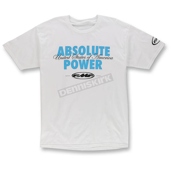 FMF White Burnout T-Shirt - F351S18133WHTXL