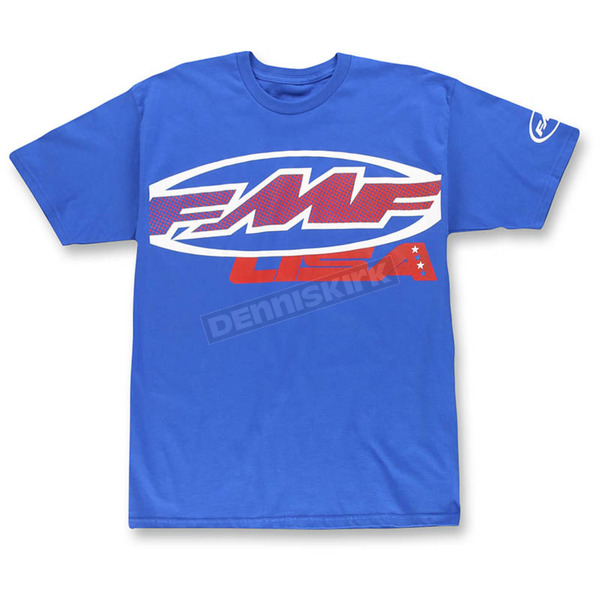 FMF Blue Start Gate T-Shirt - F351S18113BLU2X
