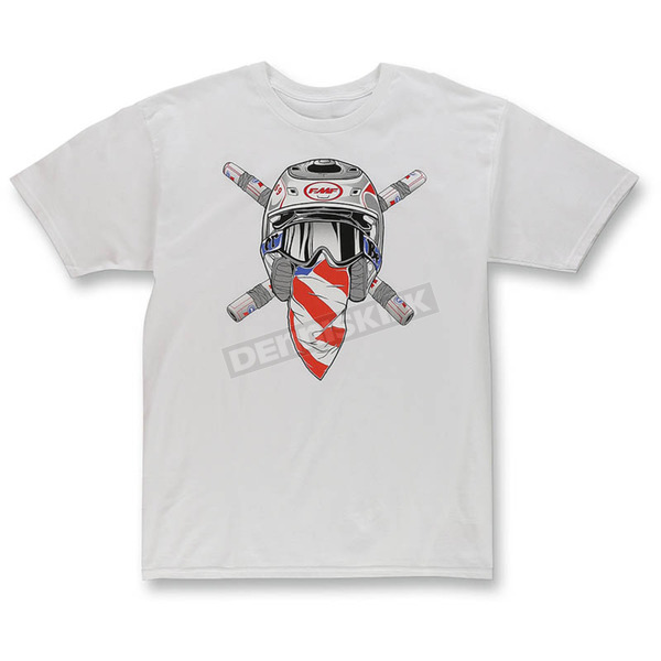 FMF White Ronnie Raider T-Shirt - F351S18125WHTL