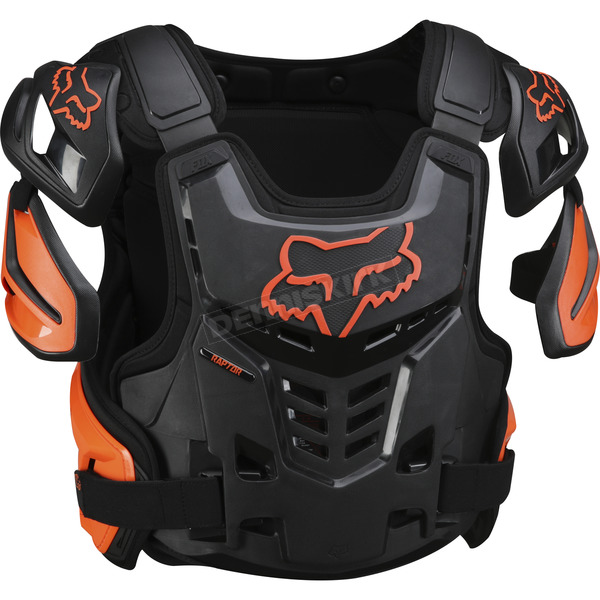 Fox Orange Raptor CE Chest Deflector - 12351-009-S/M