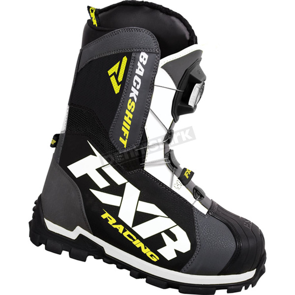 FXR Racing Charcoal/Hi-Vis Backshift Boa Boots - 16503.20712