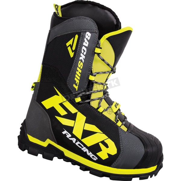 FXR Racing Charcoal/Hi-Vis Backshift Core Boots - 16504.20708