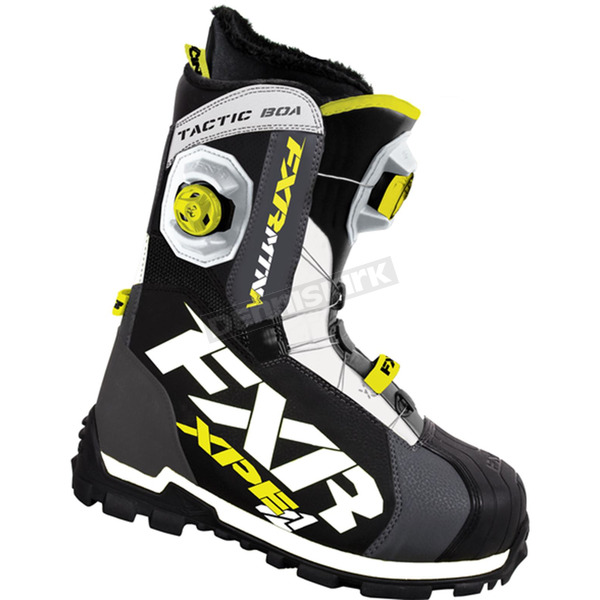 FXR Racing Charcoal/White/Hi-Vis Tactic Boa Focus Boots - 15500.20708
