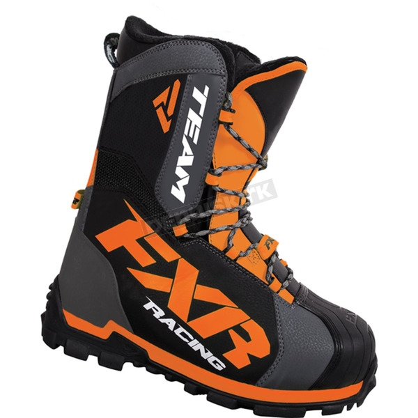 FXR Racing Charcoal/Orange Team Core Boots - 16506.32013