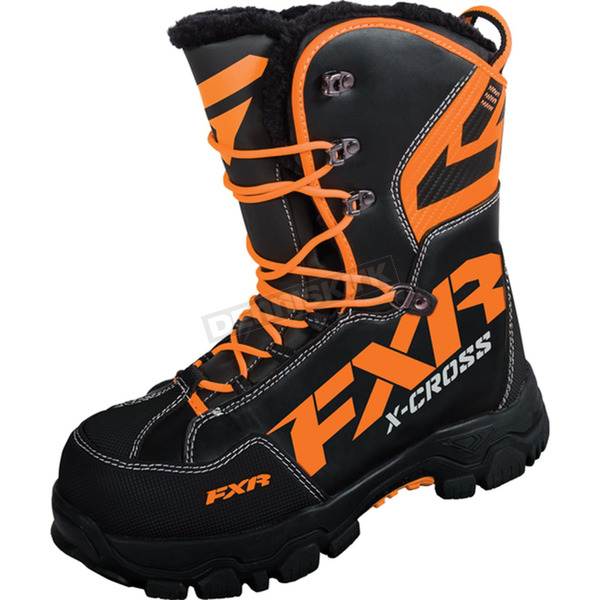 FXR Racing Black/Orange X Cross Boots - 16508.30107