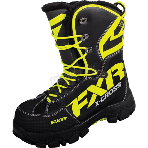 FXR Racing Black/Hi-Vis X Cross Boots - 16508.70113
