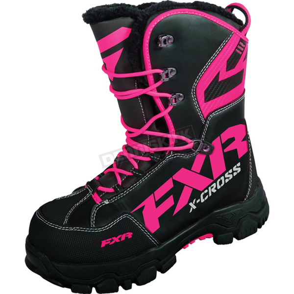 FXR Racing Womens Black/Fuchsia X Cross Boots - 16508.90110