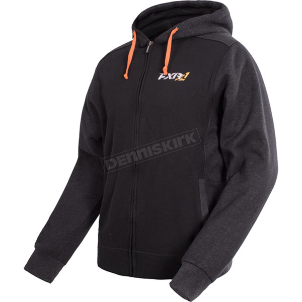 FXR Racing Black/Charcoal Pace Hoodie - 16040.20119