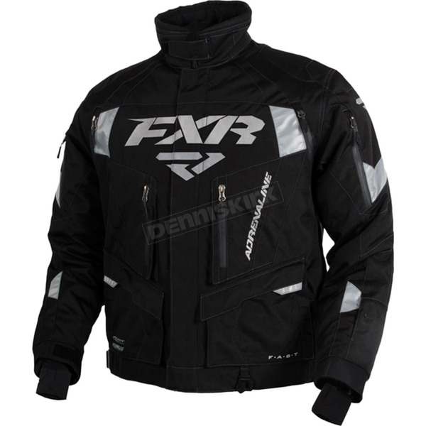 FXR Racing Black/Silver Adrenaline Jacket - 15111.10107