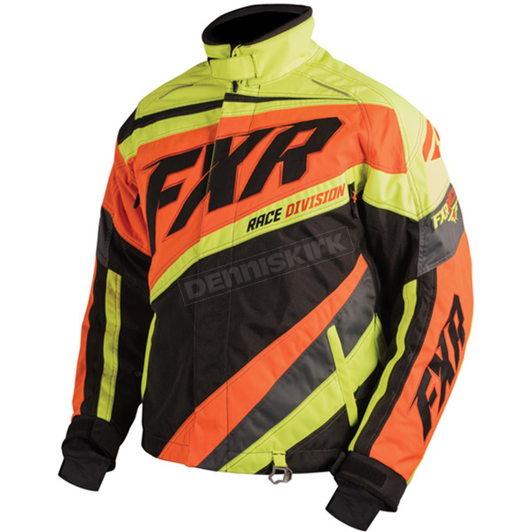 FXR Racing Black/Orange/Hi-Viz Cold Cross X Jacket - 16008.30607