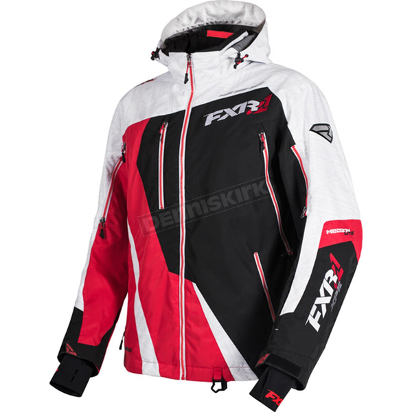 FXR Racing Black/Red/White Weave Mission Lite Jacket - 16013.50116