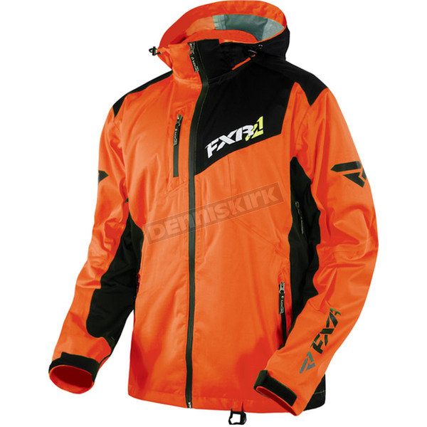 FXR Racing Orange/Charcoal Recoil Lite Trilaminate Jacket - 15135.30216