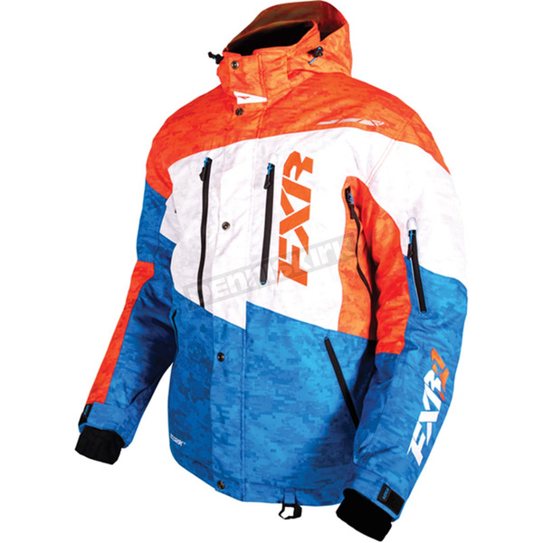 FXR Racing Orange/Blue/White Digi Squadron Jacket - 15107.40316