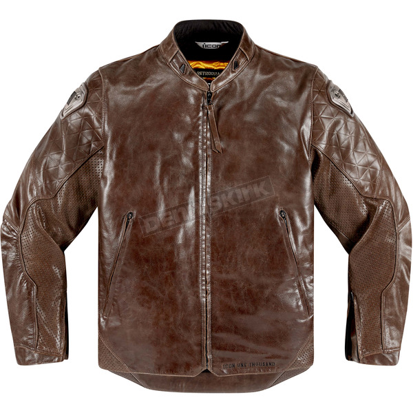 Icon 1000 Brown Leather Retrograde Jacket - 2810-2824