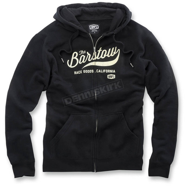 100% Black Barstow Zip Up Fleece - 36013-001-13
