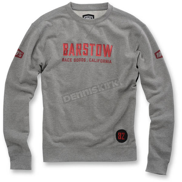 100% Heather Gray Brymann Pullover Crewneck  - 36014-007-10