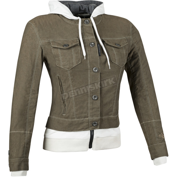 Speed and Strength Womens Brown Fast Times Denim Hoody Jacket - 87-1175