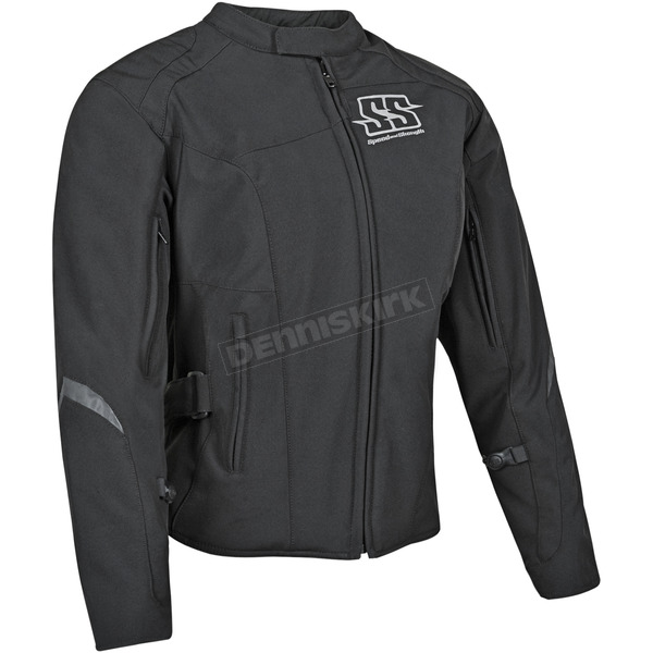 Speed and Strength Womens Black Backlash Textile Jacket - 87-0669