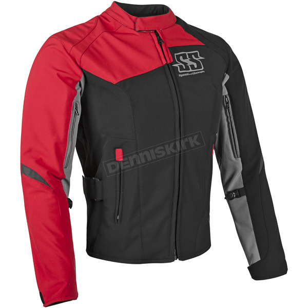 Speed and Strength Womens Red Backlash Textile Jacket - 87-0673
