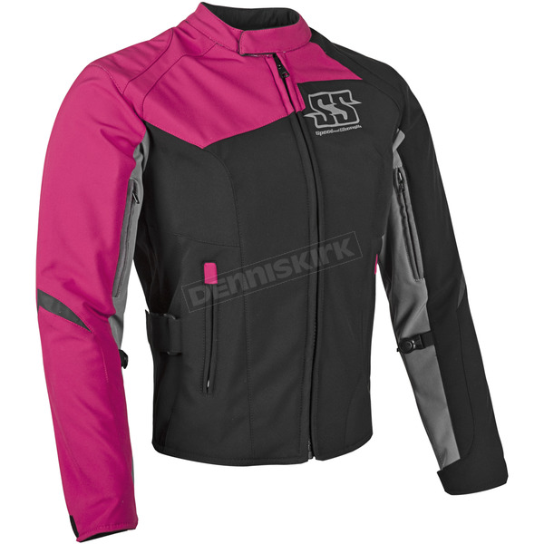 Speed and Strength Womens Pink Backlash Textile Jacket - 87-0677