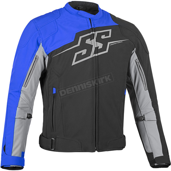 Speed and Strength Blue Hammer Down Textile Jacket - 87-0653