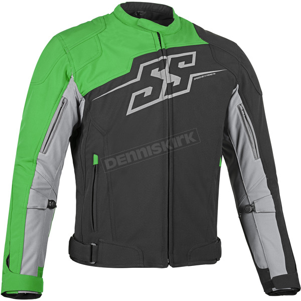 Speed and Strength Green Hammer Down Textile Jacket - 87-0659