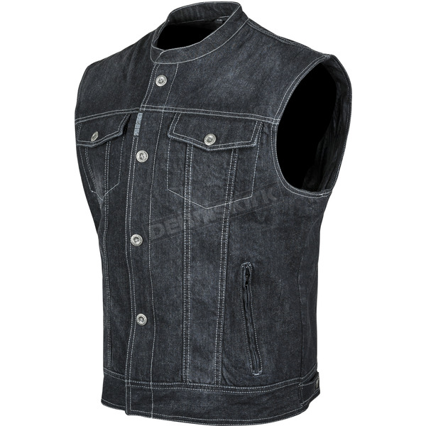 Speed and Strength Black Soul Shaker Denim Vest - 87-0167