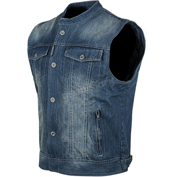 Speed and Strength Blue Soul Shaker Denim Vest - 87-0169