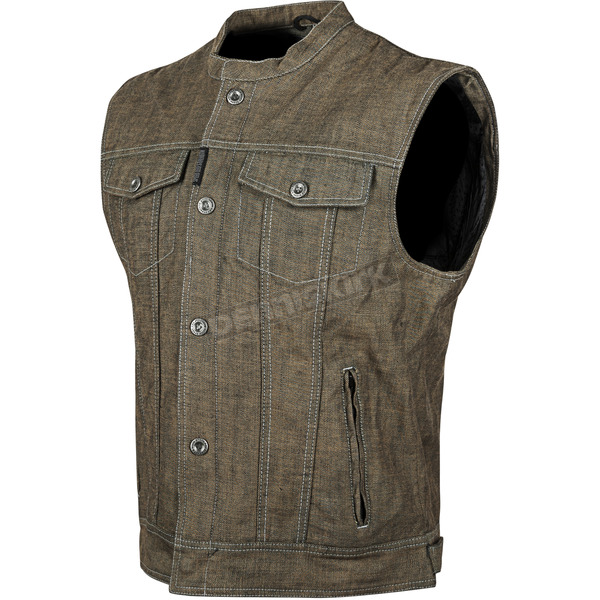 Speed and Strength Brown Soul Shaker Denim Vest - 87-0176