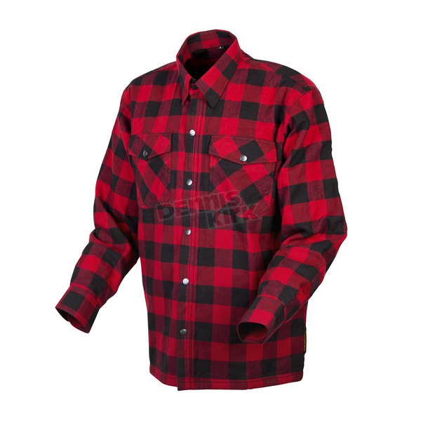 Scorpion Red/Black Covert Flannel Shirt - 13203-8