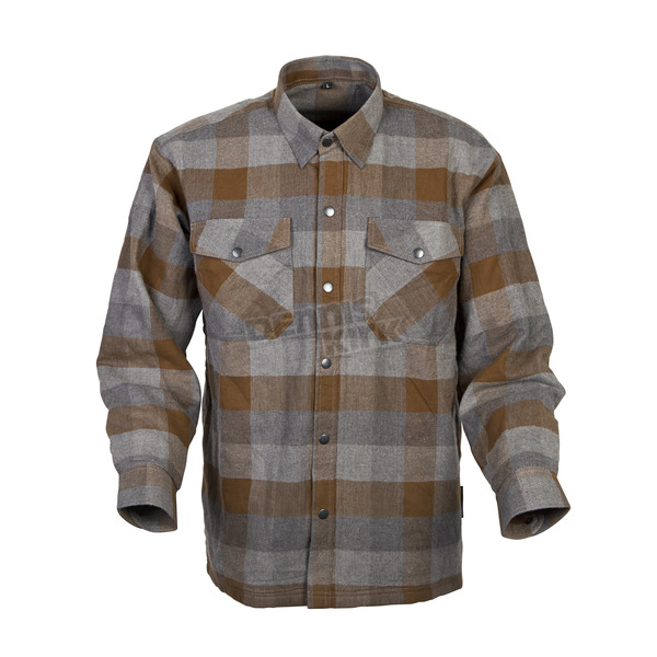 Scorpion Tan/Brown Covert Flannel Shirt - 13303-5
