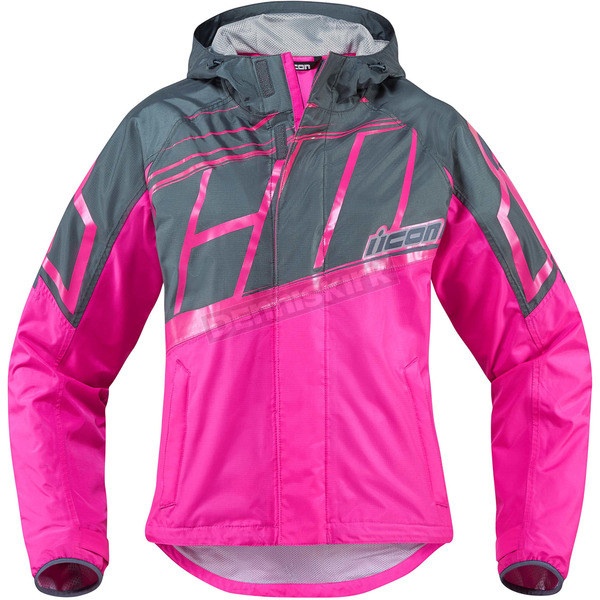 Icon Women's Pink PDX 2 Jacket - 2854-0193