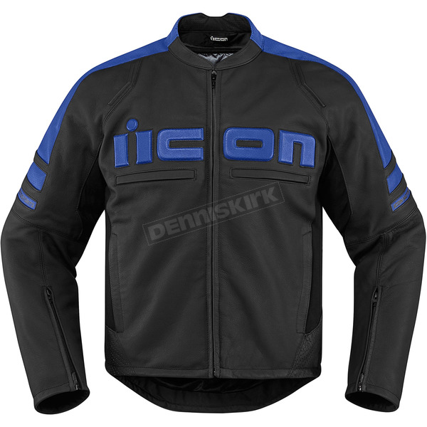 Icon Black/Blue Motorhead 2 Leather Jacket - 2810-2840