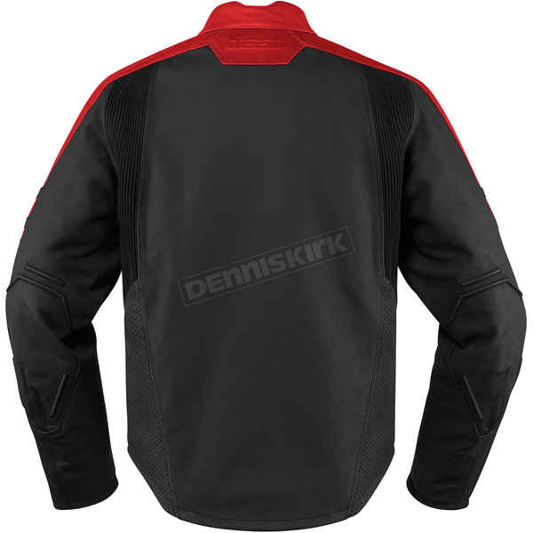 Icon Black/Red Motorhead 2 Leather Jacket - 2810-2857