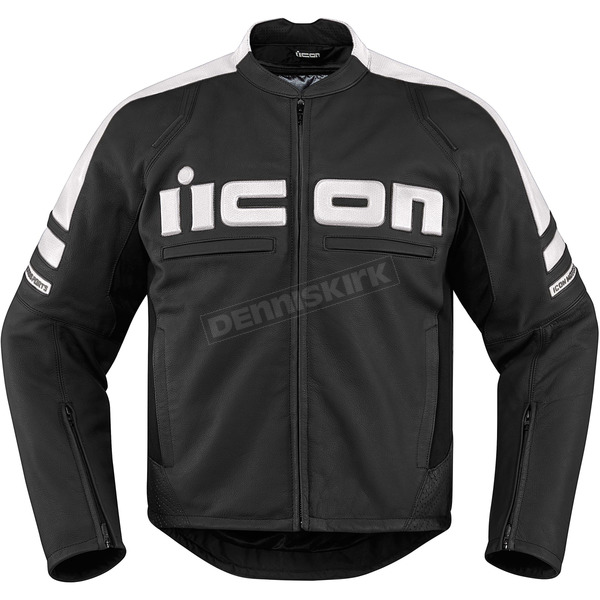 Icon Black/White Motorhead 2 Leather Jacket - 2810-2858