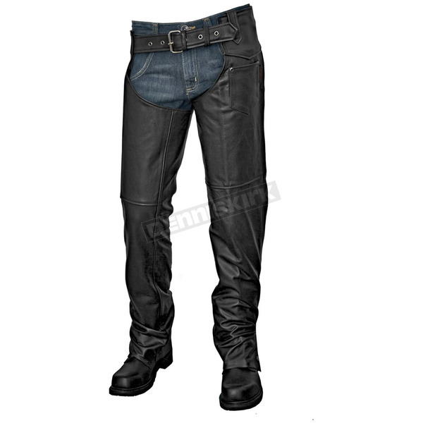 Interstate Leather Unisex Black Jadon Chaps - I8000XL