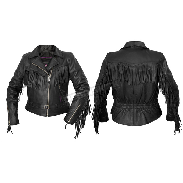 Interstate Leather Women's Black Madonna Leather Jacket - I580XL