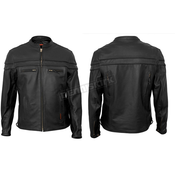 Interstate Leather Black Rebel Leather Jacket - I5373XXL